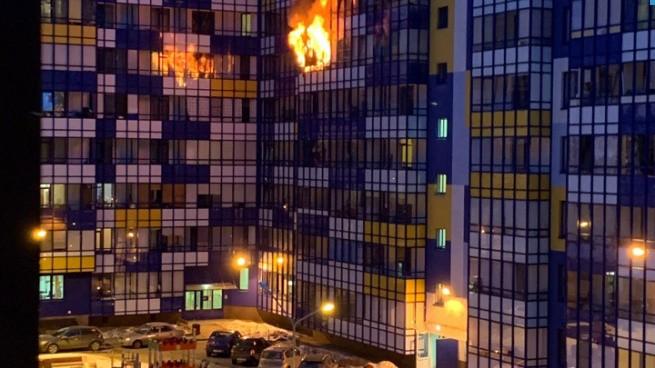 Пожар в Кудрово, Санкт-Петербург, ЧП, что произошло: что горит, фото и видео, пострадавшие